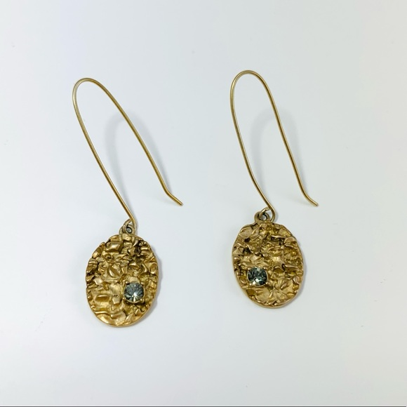 Kenneth Cole Jewelry - KENNETH COLE Gold And Crystal Drop Earrings